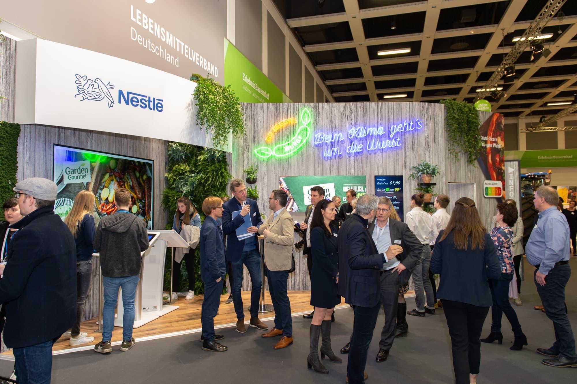 Nestlé Messestand auf der Grünen Woche als bei Partner bei
